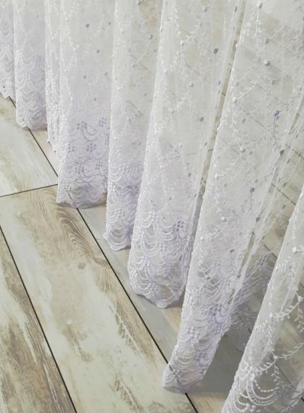 "Белый фатин с вышивкой ""Lisa 2"" Турция"