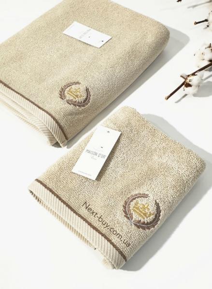 Maison D´or Pierre Loti полотенце лицевое махра бежевое