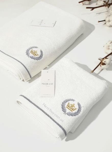 Maison D´or Pierre Loti полотенце лицевое махра белый