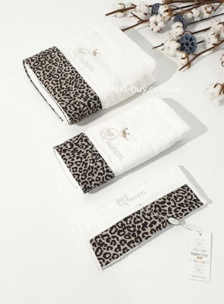 Maison D'or Queen набор махровых полотенец 3шт. крем/мокко