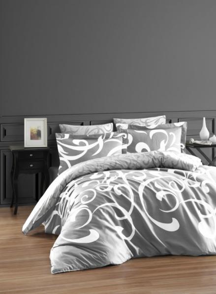 First choice RUYA Gri постельное белье сатин евро 200х220