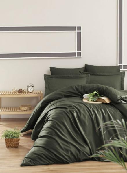 First choice Snazzy Haki-dark green постельное белье сатин семейный 160х220х2