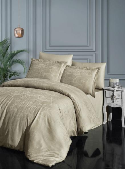 Постельное белье бамбук First choice Sasha Toprak-Soil евро 200х220