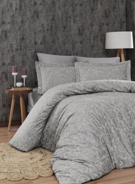First Choice Sweta Gri постельное белье сатин семейный 160х220х2
