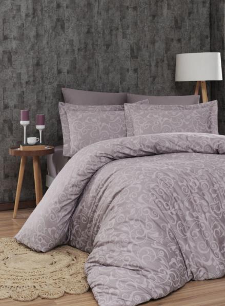 First Choice Sweta Leylak постельное белье сатин евро 200х220
