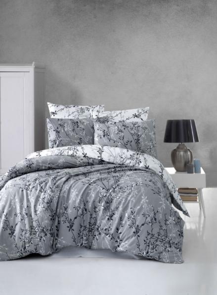 First Сhoice Zena Gri-grey постільна білизна ранфорс сімейний 160х220х2