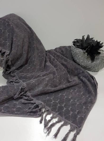 Maison D'or Paris Danielle Bedspread махровая простынь с бахромой хлопок антрацит