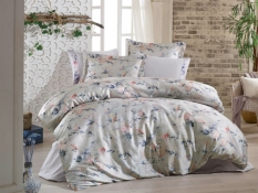 КПБ HOBBY Crash Sateen Julia бежевый евро 200*220/2*50*70+2*70*70