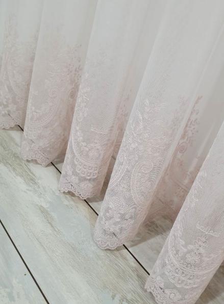 Тюль грек-сетка Bridalveil розовый