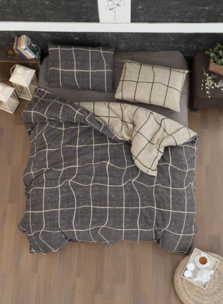 Постельное белье First Choice Flannel Adonis Brown евро 200х220