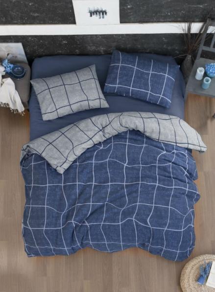 Постельное белье First Choice Flannel Adonis Denim евро 200х220