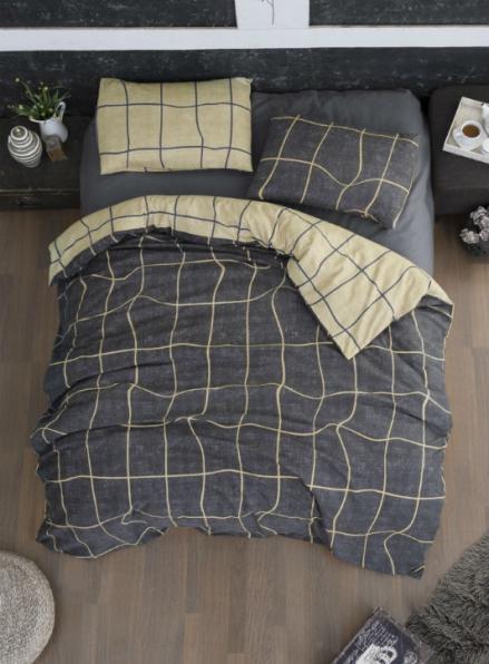 Постельное белье First Choice Flannel Adonis Grey евро 200х220
