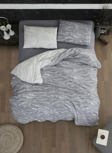 Постельное белье First Choice Flannel Larnell Grey евро 200х220