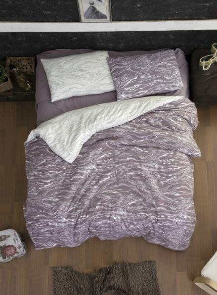 Постельное белье First Choice Flannel Larnell Lilac евро 200х220