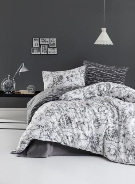 Постельное белье First Choice Flannel Rozen Gri евро 200х220