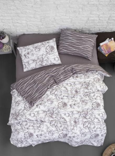 Постельное белье First Choice Flannel Rozen Lilac евро 200х220
