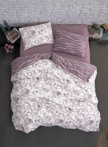 Постельное белье First Choice Flannel Rozen Powder евро 200х220