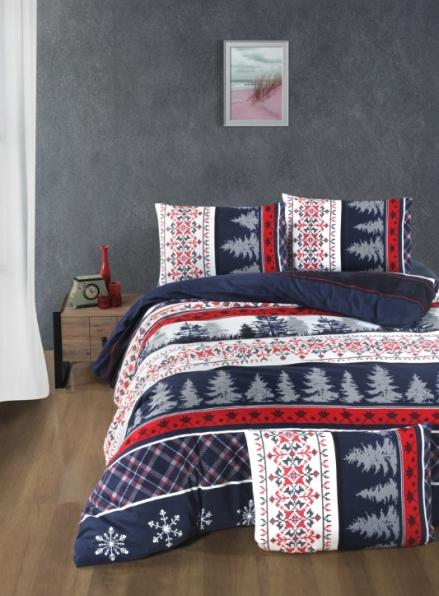 Постельное белье First Choice Flannel Snowfall евро 200х220