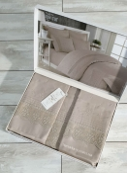 Maison D'or Jndila simone Beige постельное белье евро 200х220 сатин с кружевом