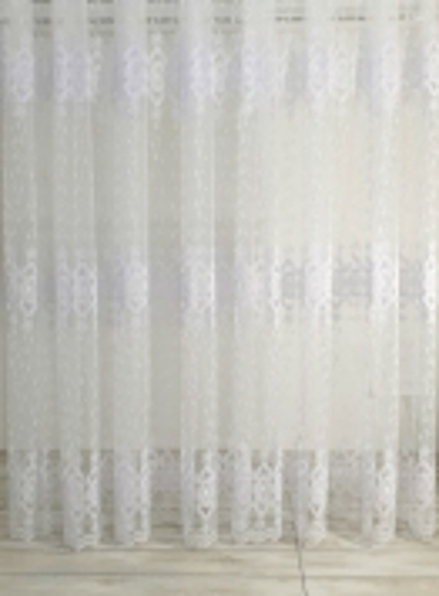 Тюль фатин с узором  Periwinkle белый с блеском