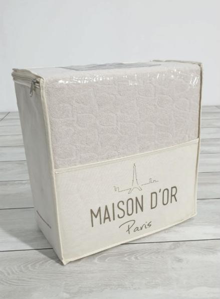 Постельное белье махровое Maison D'or Jaquard Stretcu Terry Set Krem 200x220см