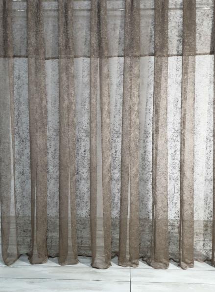 Тюль сетка с вкраплениями Velvet шоколадный