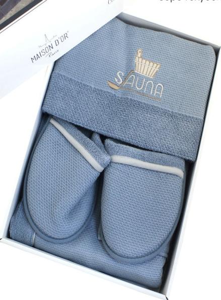 Maison D`or Sauna Dufour набор для сауны мужской серо-голубой