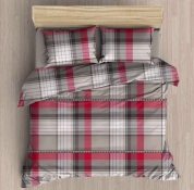 Постельное белье First Choice Ayda Flannel евро 200х220