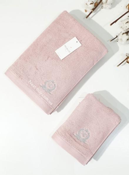 Maison D'or банне махрове полотенце 85х150см LUXFORD рожевий