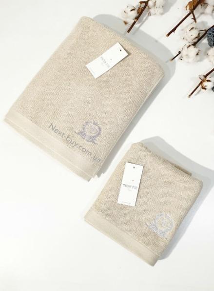 Maison D'or банне махрове полотенце 85х150см LUXFORD беж
