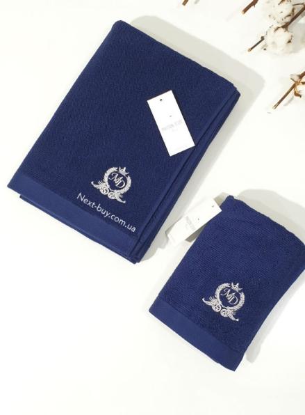 Maison D'or банне махрове полотенце 85х150см LUXFORD синій