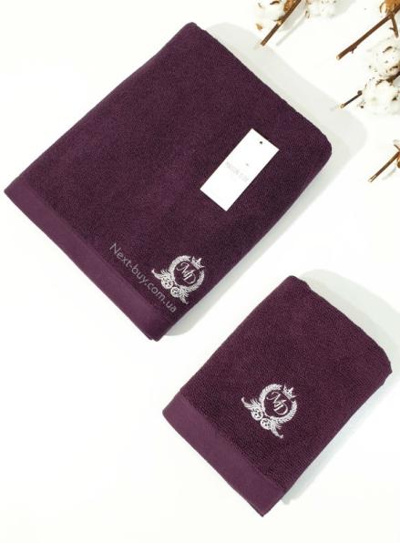 Maison D'or банне махрове полотенце 85х150см LUXFORD бордо