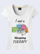 ФУТБОЛКА I NEED A SHOPPING THERAPY