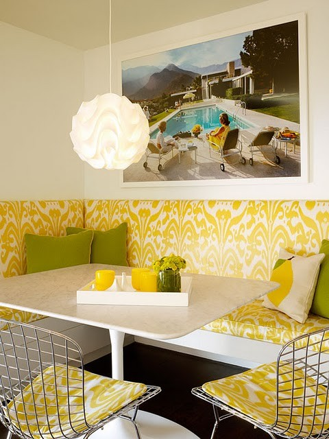 Yellow-Banquette